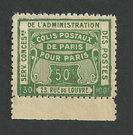 Colis Postaux De Paris Pour Paris N° 51 ( Maury) ** - Parcel Post