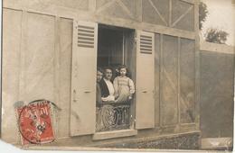 CPA Carte Photo MAULE (78) - Franscica Jeanne Et Sa Maman à La Fenêtre D'une Maison De La Commune - Maule