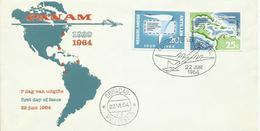 ANTILLAS SOBRE PRIMER DIA AEREO - Antillas Holandesas
