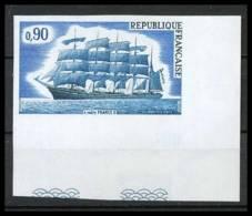 France N°1762 Cinq-mâts France II Bateau Bateaux Ship Voilier Coin De Feuille Non Dentelé ** MNH (Imperforate) - France