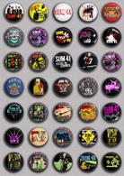 35 X Rock Sum 41 Music Fan ART BADGE BUTTON PIN SET (1inch/25mm Diameter) - Music