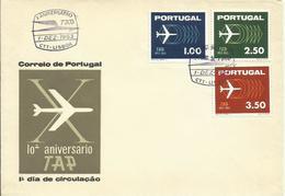 PORTUGAL, SOBRE ANIVERSARIO TAP - 1910-... República