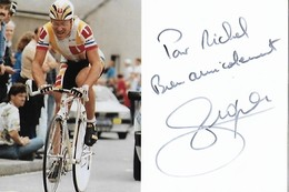 TIRAGE PHOTO 10CM/15CM DU COUREUR  : CYCLISTE PROFESSIONNEL LAURENT FIGNON VAINQUEUR EN 1983 ET 1984 DU TOUR DE FRANCE - Cyclisme