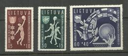 LITHUANIA Litauen 1939 Michel 429 - 431 MNH - Litouwen