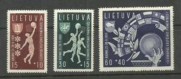 LITHUANIA Litauen 1939 Michel 429 - 431 MNH - Litauen
