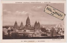 75 Paris - Cpa / Exposition Coloniale 1931 - Temple D'Angkor-Vat - Vue Latérale. - Exhibitions