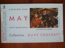 Buvard  Chewing-gum  MAY  Collection DAVY CROCKETT  N° 56 - Buvards, Protège-cahiers Illustrés