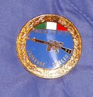 Distintivo Pendif Polizia Agente Tiratore Scelto - Italian Police  Enameled Sniper Insignia - Usato - Used - Obsolete - Polizia