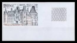France N°2082 Chateau (castle) De Maintenon Coin De Feuille Non Dentelé ** MNH (Imperforate) - France