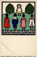 Wiener Werkstätte Nr. 113 Koehler, Mela Kinder Künstler-Karte I-II (kl. Fleck) - Kokoschka