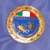 Distintivo Pendif Polizia Agente Cinofilo Antisabotaggio - Italian Police  Enameled K9 Insignia - Usato - Used Obsolete - Police