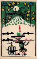 Wiener Werkstätte Nr. 73 Kokoschka, Oskar Flötenspieler Mit Fledermäusen Künstler-Karte I-II (Ecken Leicht Angestoßen, K - Kokoschka
