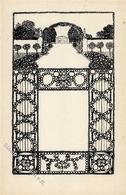 Wiener Werkstätte Nr. 12 Garten Sign. Lebisch, Franz Künstler-Karte I-II - Kokoschka