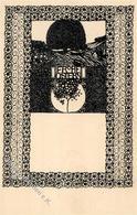 Wiener Werkstätte Nr. 14 Leibisch, Franz Ostern Künstler-Karte I Paques - Kokoschka