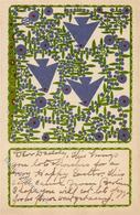 Wiener Werkstätte Nr. 150 Oswald, Wenzel Ostern Künstler-Karte I- Paques - Kokoschka