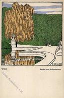 Wiener Werkstätte Nr. 294 Schwetz, Karl Wien Schönbrunn Künstler-Karte I- - Kokoschka