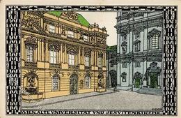 Wiener Werkstätte Nr. 316 Diveky, Josef Wien Universität Künstler-Karte I-II (fleckig) - Kokoschka