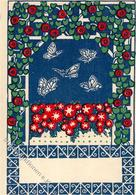 Wiener Werkstätte Nr. 45 Kalhammer, Gustav Schmetterlinge Künstler-Karte I- - Kokoschka