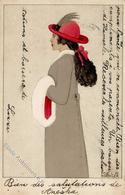 Wiener Werkstätte Nr. 583 Koehler, Mela Fashion Künstler-Karte I-II (fleckig) - Kokoschka