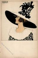 Wiener Werkstätte Nr. 594 Koehler, Mela Hutmode Künstler-Karte I-II (fleckig) - Kokoschka