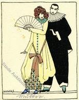 Wiener Werkstätte Nr. 682 Karneval Sign. Likarz, Maria Tisch-Karte I-II (fleckig) - Kokoschka