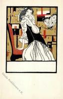 Wiener Werkstätte Nr. 712 Likarz, Maria Frau Mit Schmetterling Künstler-Karte I - Kokoschka