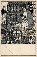 Wiener Werkstätte Nr. 817 Kuhn, Franz Ostern Künstler-Karte I- Paques - Kokoschka