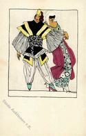 Wiener Werkstätte Nr. 832 Karneval Sign. Likarz, Maria Künstler-Karte I-II (fleckig) - Kokoschka