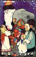 Wiener Werkstätte Nr. 900 Künstler Unbekannt Sign. E. T. Weihnachtsmann Künstler-Karte I- Pere Noel - Kokoschka