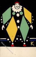 Wiener Werkstätte Nr. 94 Kalvach, Rudolf Clown Künstler-Karte I-II (Ecken Leicht Abgestoßen, Kl. Fleck) - Kokoschka