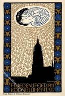Jungnickel WW-Künstler Friedensfeier Kornblumentag 1911 Künstlerkarte I- - Kokoschka