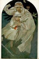 Mucha, A. Radostne Vanoce Künstlerkarte I-II (abgestoßen) - Ohne Zuordnung