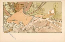 Mucha, Alfons Aurore Künstler-Karte I- - Ohne Zuordnung