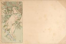 Mucha, Alfons Frau Jugendstil Künstler-Karte I-II (fleckig) Art Nouveau - Ohne Zuordnung