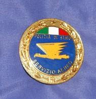 Distintivo Pendif Polizia Agente Servizio Aereo - Italian Police  Enameled Insignia - Usato - Used Obsolete - Polizia