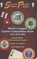 Carte Clé Hôtel Avec Casino Adjoint : South Point : World's Largest Casino Collectibles Show (Rouge) - Cartes D'hotel