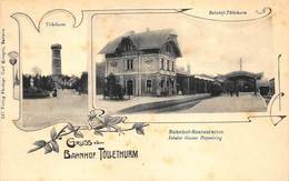 Germany Duitsland  Gruss Vom Bahnhof Töllethurm  Bahnhof Restauration Inhaber Gustav Piepenbring Station     X 5294 - Allemagne