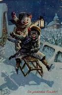 Thiele, Arthur Katzen Personifiziert Künstlerkarte 1913 I-II Chat - Thiele, Arthur