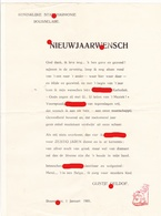 Curiosum - Nieuwjaarswens 1931 - Koninklijke Stadsharmonie Roeselare KSR - August 'Gustje' Geldof - Faire-part