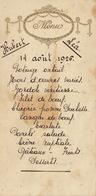 Menu En Relief Pour Jules Patron 1926 - Menus