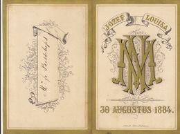 Beau Menu Cartonné De 1884 Pour M Bisschops - Menus