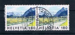 Schweiz 1998 Mi.Nr. 1657 Waagr. Paar Gestempelt - Switzerland