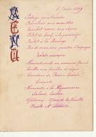 Menu De 1889 Japonisant Pour Charles De Coster - Menus