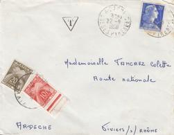 LETTRE. 1958 TAXE GERBE 30F - 1921-1960: Modern Period