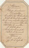 Menu Vers 1880  Pour Charles De Coster - Menus