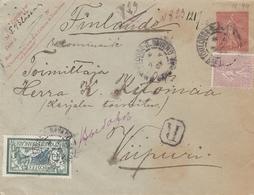 France Entier Postal Recommandé Toulouse Pour La Finlande 1907 - Enveloppes Types Et TSC (avant 1995)