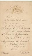 Menu Cartonné En Relief Pour M Charles De Coster - Menus