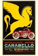 Motocycle Postcard Carabello L.Comini Torino  - Reproduction - Pubblicitari