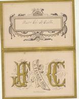 Beau Menu Cartonné 1886 Pour M Charles De Coster - Menus