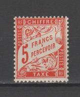 FRANCE / 1941 / Y&T TAXE N° 66 ** : Duval 5F Rouge-orange - Gomme D'origine Intacte - Taxes
